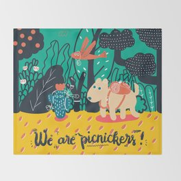 We are picnickers Throw Blanket