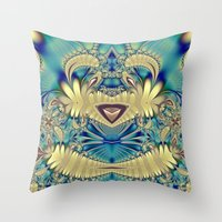 teddy bear Throw Pillows featuring Teddy by Shalisa Photography