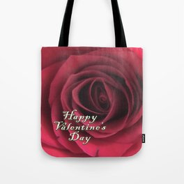 Valentine Scarlet Red Rose Elegance Tote Bag
