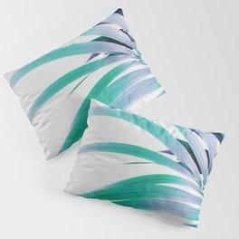 Colored Palm Leaf Pillow Sham