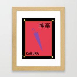 Yorozuya Simple - Kagura Framed Art Print