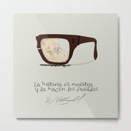 Salvador Allende Lente - TrincheraCreativ Metal Print