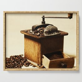 Kitchen picture coffee grinder Serving Tray