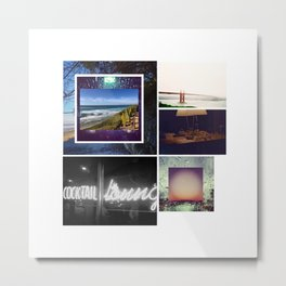 Southern California Collage Metal Print