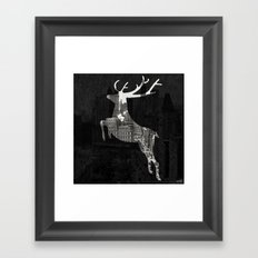 Deer City Collage 1 Framed Art Print