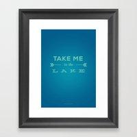 Take Me to the Lake Framed Art Print