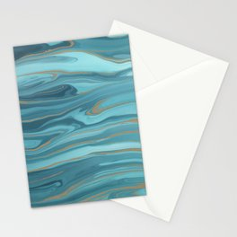 Liquid ink marble No6 Stationery Cards