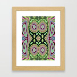 Abstract Colorful Cactus Vibes  Framed Art Print