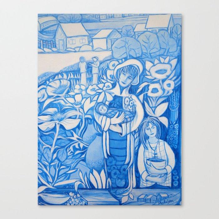 Blue window #7 Canvas Print
