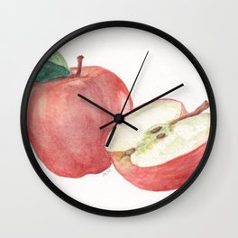 Apple and a Half Wall Clock