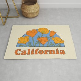California Poppies Rug