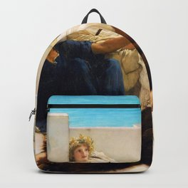 Lawrence Alma-Tadema - A Reading From Homer1 - Digital Remastered Edition Backpack