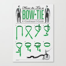 How to Tie a Bowtie Canvas Print