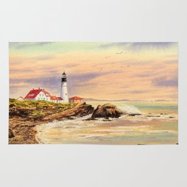 Portland Head Lighthouse Maine Rug