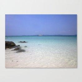 blue skies, clear waters Canvas Print
