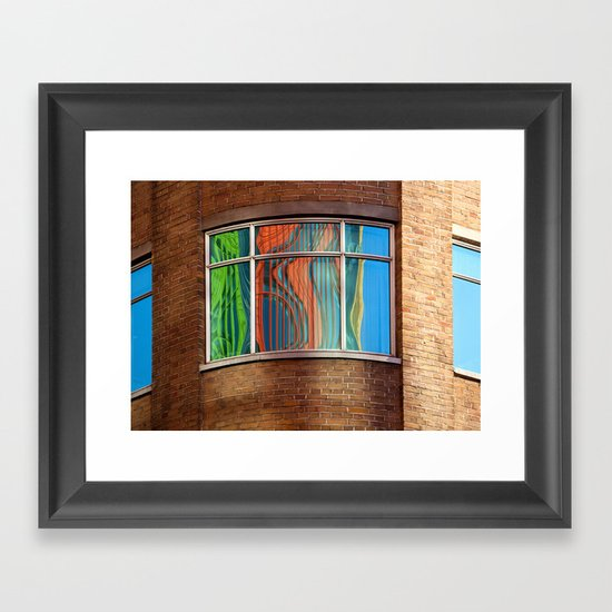 Rainbow Window Framed Art Print