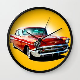 57 Chevy Wall Clock