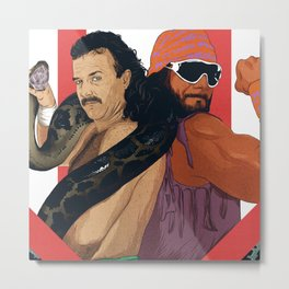"Macho Man Randy Savage vs Jake ""The Snake"" Roberts Metal Print"