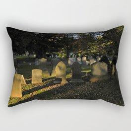Headstones in a Fall Sunset Rectangular Pillow