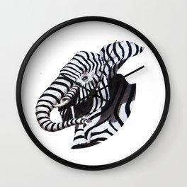 éléphant zèbre Wall Clock