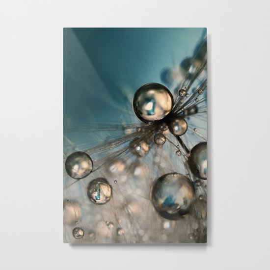 Royal Sea Blue Drops II Metal Print