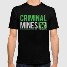 Criminal Mines MEDIUM Black Mens Fitted Tee