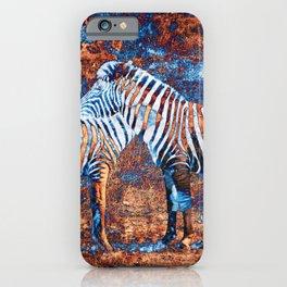 Metallic Zebras iPhone Case