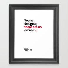 Young Designer — Advice #5 Framed Art Print
