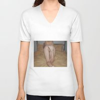 booty V-neck T-shirts featuring Booty by Allison Paige