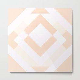 Diamond Taupe Metal Print