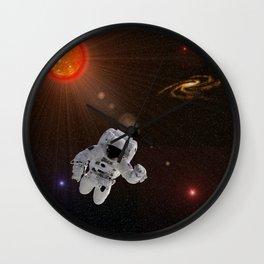 Astronaut Sun Stars Wall Clock