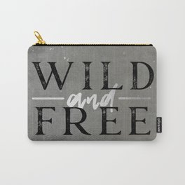 Wild and Free Silver Concrete Carry-All Pouch