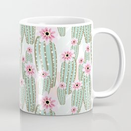 Cactus with pink flowers Coffee Mug
