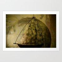 sailboat Art Prints featuring Sailboat by Jean-François Dupuis