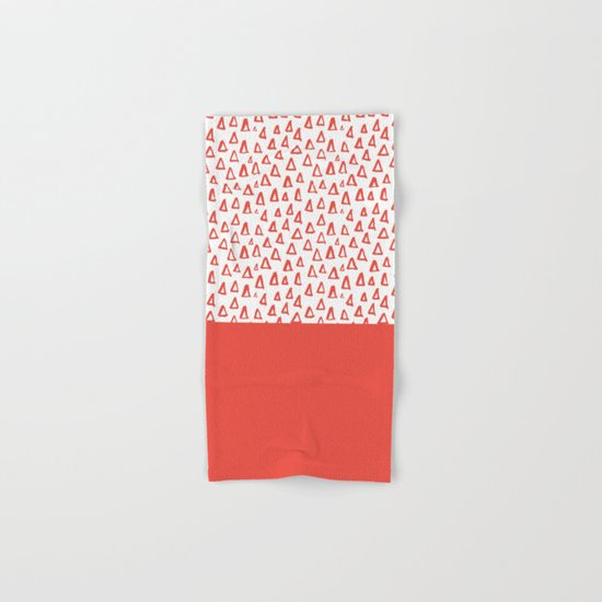 Triangles Fiesta Red Hand & Bath Towel