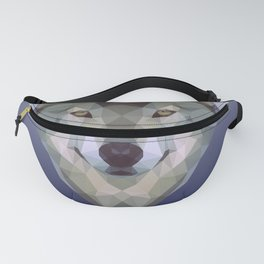 Polygon wolf Fanny Pack