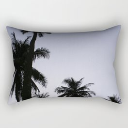 Tropical palm trees in sunset blue Rectangular Pillow