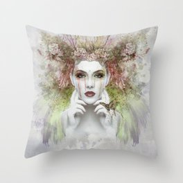 Springtime Goddess Throw Pillow