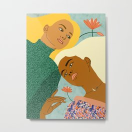 Two Souls One Body ||  #painting #illustration Metal Print