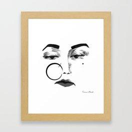 Noor Jehan BW Framed Art Print