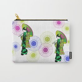 geisha with parasol Carry-All Pouch