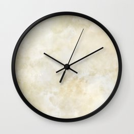 Grunge beige watercolor marble background Wall Clock