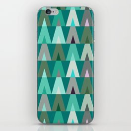 Deer Head Geometric Triangles | teal turquoise iPhone Skin