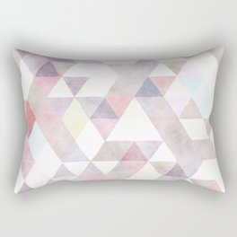 Modern abstract geometrical pastel tones watercolor Rectangular Pillow