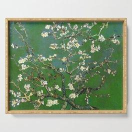 Almond Blossom - Vincent Van Gogh (avocado pastel) Serving Tray