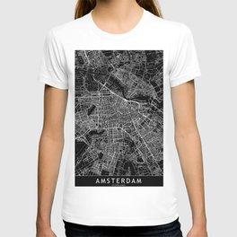 Amsterdam Black Map T-shirt