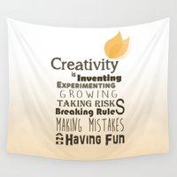 creativity Wall Tapestries featuring Creativity by TeaTimeAdventure