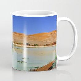 Water in the Namib desert after rain season, Namibia II Coffee Mug