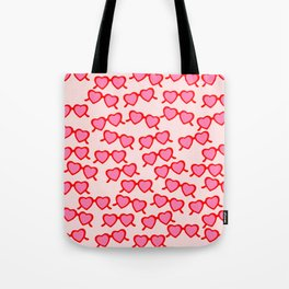 Heart Shaped Glasses Tote Bag