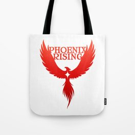 PHOENIX RISING red with star center Tote Bag